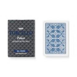 cartes poker torcello 100% PVC BLEU