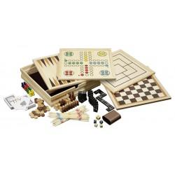 Coffret de jeux classiques en bois