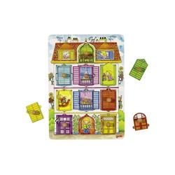 Puzzle à encastrements avec image cachées : Notrre villa