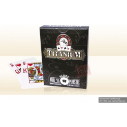 cartes poker Titanium 100 % plastique