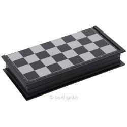 Echiquier magnétique pliant de voyage gris et noir