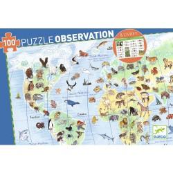 Puzzle d'Observation : Animaux du Monde