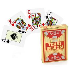 Cartes poker Texas Hold'Em Gold Rouge