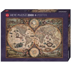 Carte du Monde Ancienne