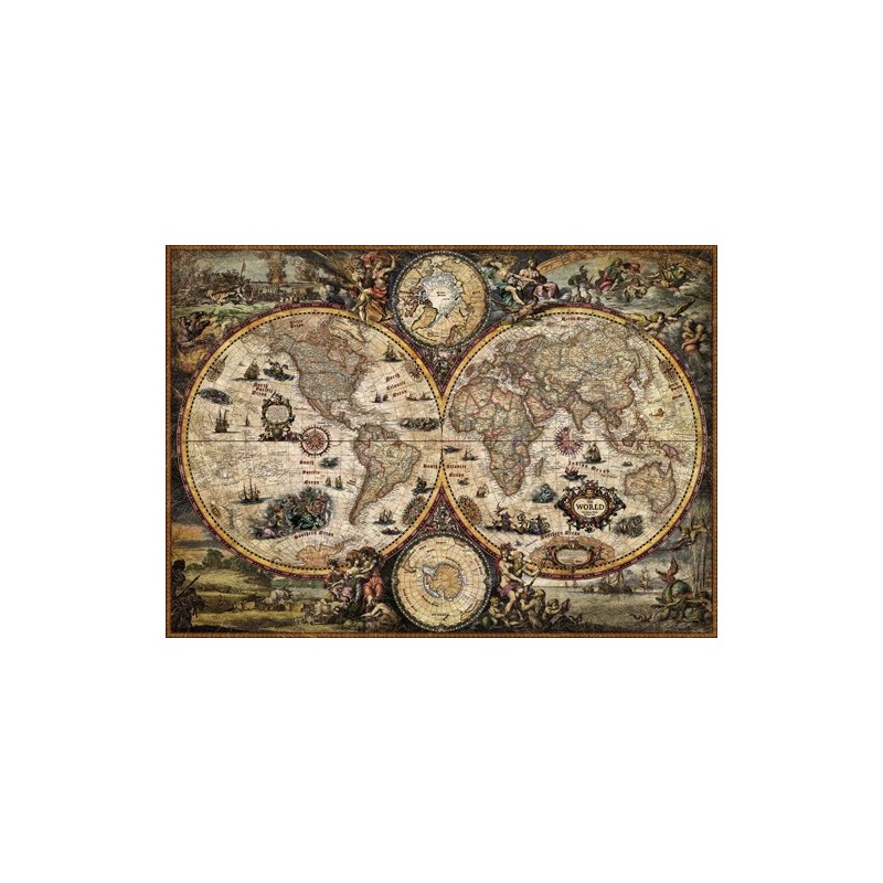 carte du monde ancienne au tapis vert. Black Bedroom Furniture Sets. Home Design Ideas