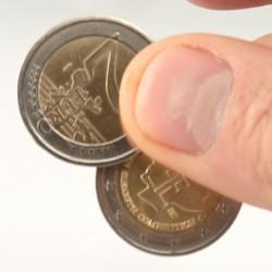 Pièce 2 Euros à coquille Tango