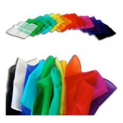 Foulard de magicien en soie taille 24 pouces.