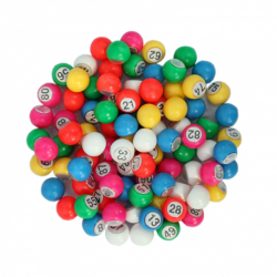 Sachet 90 boules multicolores 18 mm