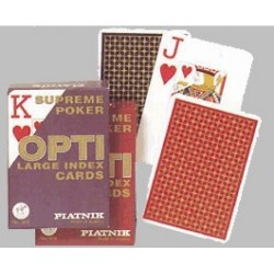 Cartes de Poker optic
