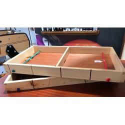 Table à élastique marquetée