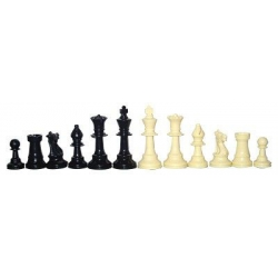 ECHECS PIECES PLASTIQUE PLOMBEES T3