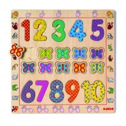 Puzzle encastrement chiffres 1-10