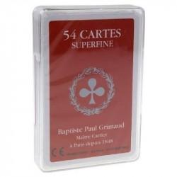 Paquet de 54 cartes Grimaud en boîte plastique