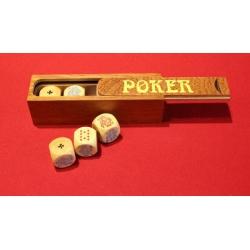 Dés de Poker d'As en buis.
