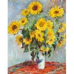 Claude Monet - Bouquet de tournesols