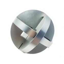 Casse-tête aluminium brossé n°6 (difficulté 3)