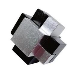 Casse-tête aluminium brossé n°3 (difficulté 4)