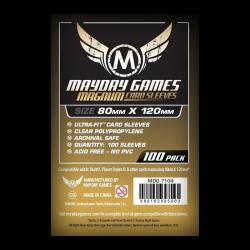 Étuis protège-cartes (sleeves) Mayday 80x120mm magnum standard (paquet de 100)