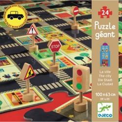 Puzzle géant La ville - idéal pour les petites voitures