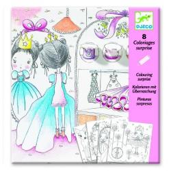 8 coloriages surprise - Les petites portes de Pupi