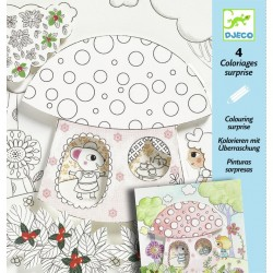 4 coloriages surprise - Poucette