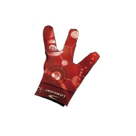 Gant Longoni rouge à motif billard