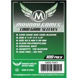 Étuis protège-cartes (sleeves) Mayday 63.5x88mm standard (paquet de 100)