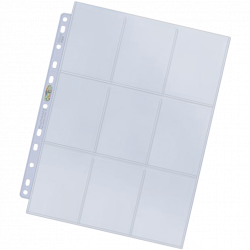100 feuilles de classeur platinum pour cartes à collectionner