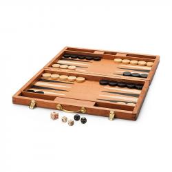 Backgammon pliable en bois, 25cm