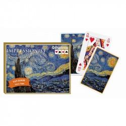 Van Gogh nuit étoilée 2x54 cartes