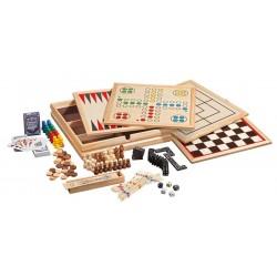 Set de 10 jeux de société classiques en bois