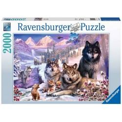 Puzzle 2000 pièces Loups dans la neige