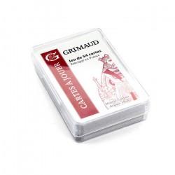 54 cartes Grimaud boite Cristal