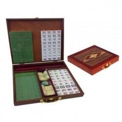 Coffret de Mahjong boîte marquetée