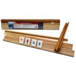 Set de 4 réglettes de Mah-Jong en bois
