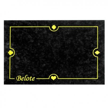 Tapis belote noir 40 x 60