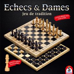 Plateau recto-verso Echecs et Dames