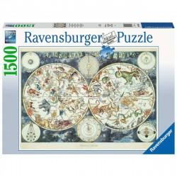 Puzzle 1500 pièces Mappemonde des animaux
