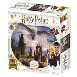 Puzzle Harry Potter effet 3D - Poudlard et Hedwige