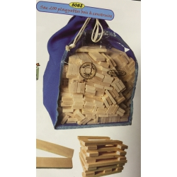 Plaquettes en bois pour jeux de construction