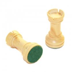 Pièces d'échecs en buis plombées T1