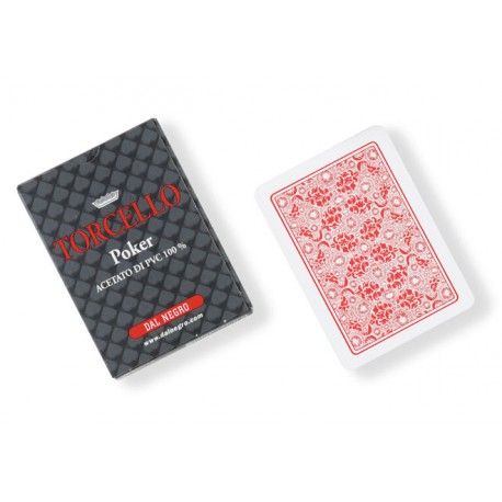 cartes poker torcello 100% PVC ROUGE
