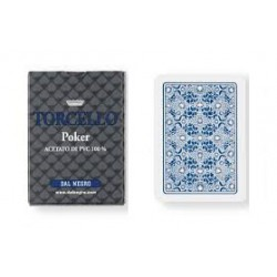 cartes poker torcello 100% PVC BLEU