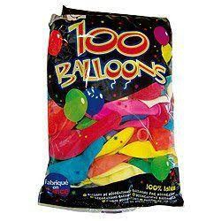 Ballons latex x 100 multicolore