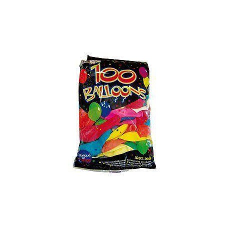 Ballons latex x 100 multicolore