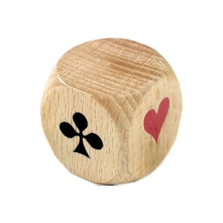 cube de coinche en bois