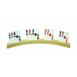 Porte-cartes en bois 35 cm