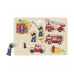 puzzle à encastrements pompiers