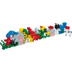 Puzzle animaux lettres et chiffres