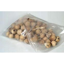 boules de loto en bois 25